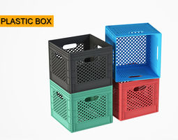 3D storage plastic box