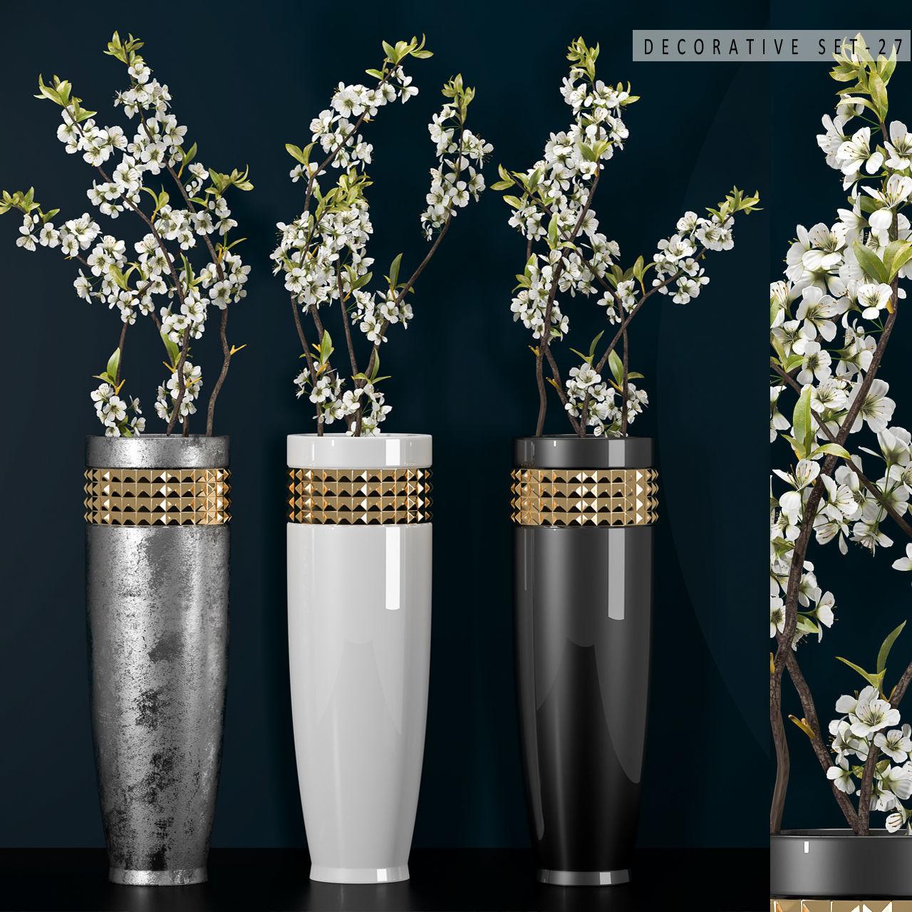 Decorative vase set 27 3d cgtrader decorative vase set 27 3d model max fbx unitypackage 1 reviewsmspy