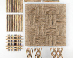 3D model Decor of bamboo collection