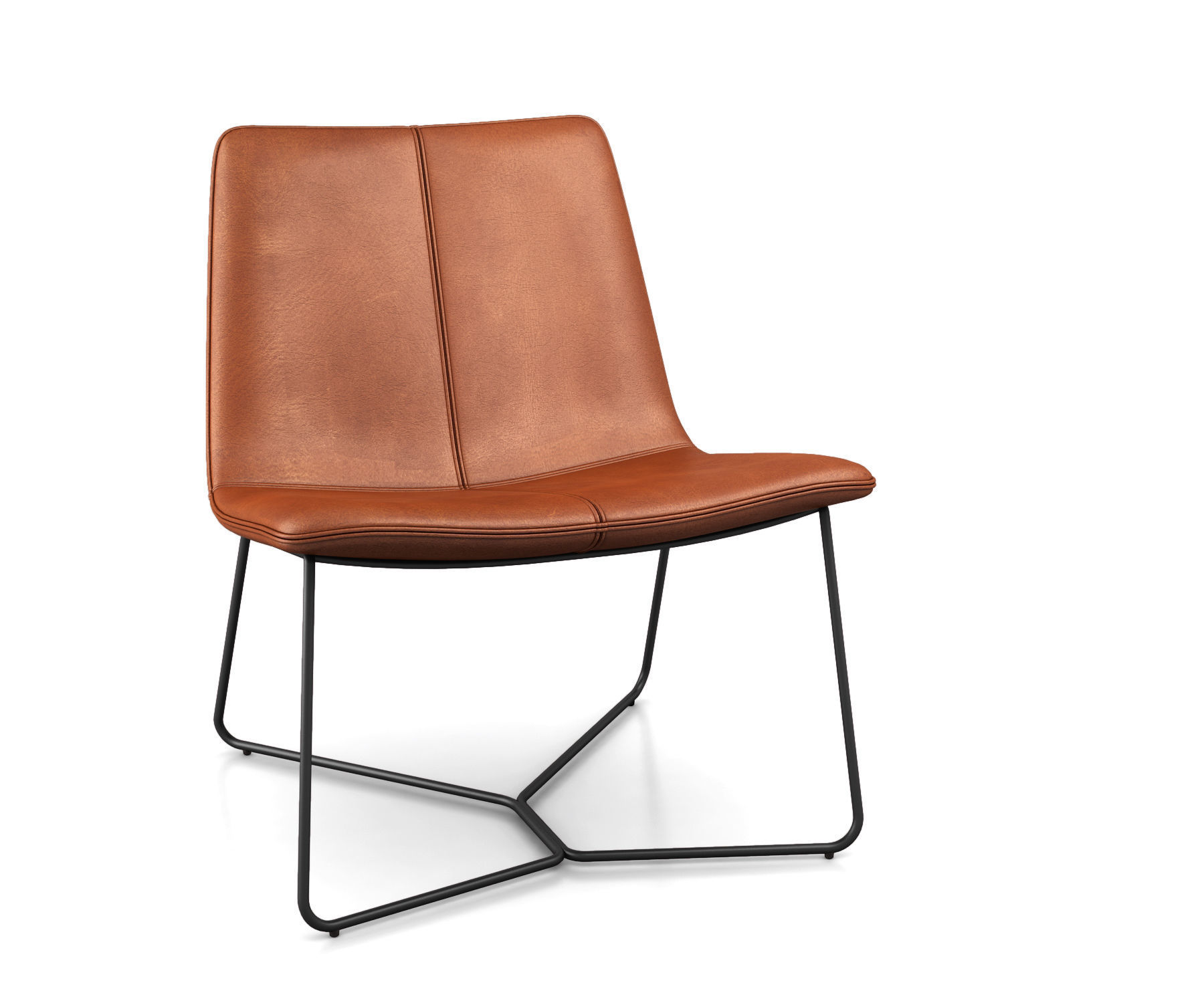 Prime Slope Leather Lounge Chair By West Elm 3D Model Ibusinesslaw Wood Chair Design Ideas Ibusinesslaworg