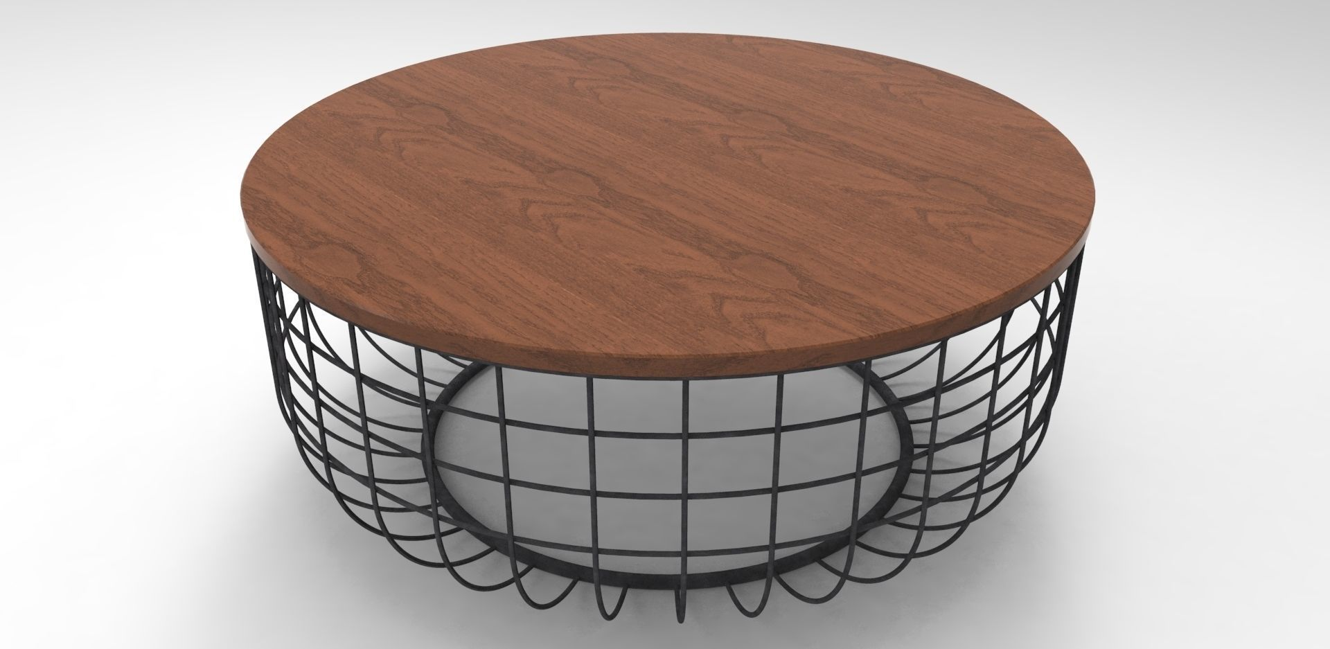 ... Wire Coffee Table 3d Model 3ds Skp 3 ...