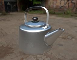 Aluminium Korean Tea Kettle 3D model