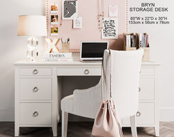 Bryn Storage Desk 3D
