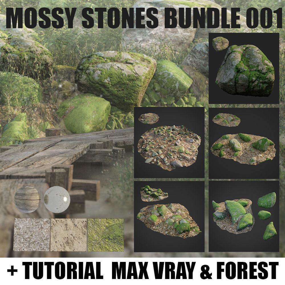 mossy stones bundle 001