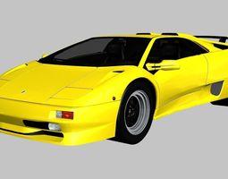 3D model Lamborghini Diablo SV 1997
