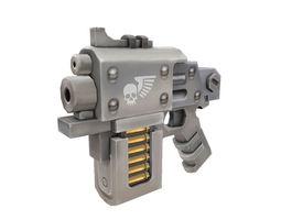 Low Poly Hand Gun 01 3D asset
