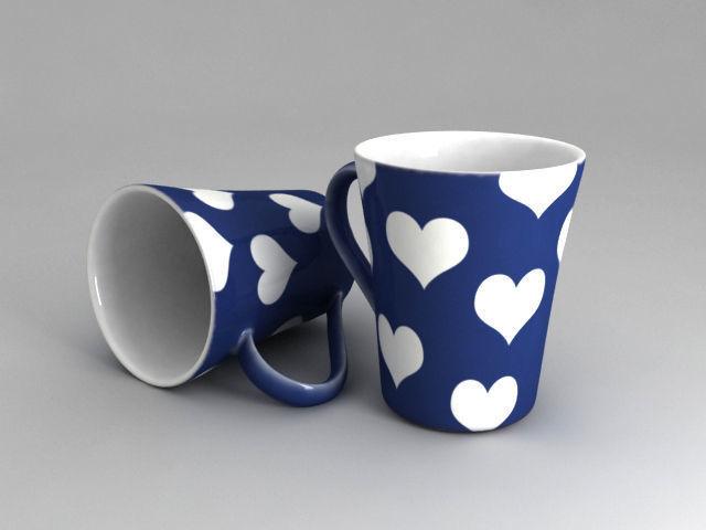 mug with 3 different textures 3d model obj fbx 1