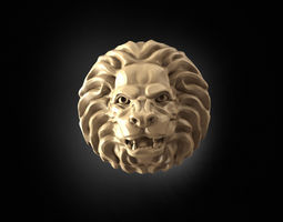 Angry Lion Head 3D print model angry