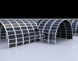 Cylindrical large structure for airport or large 3D model