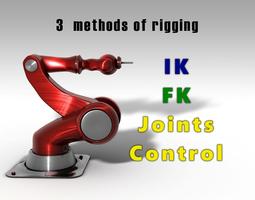 Arm Robot Rigged IK 3D