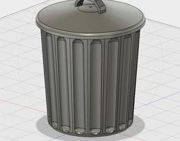 3D printable model Free Desktop Trash Can with