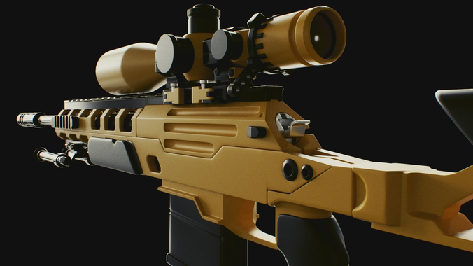 cod bo2 ballista sniper high poly 3d model obj c4d 1