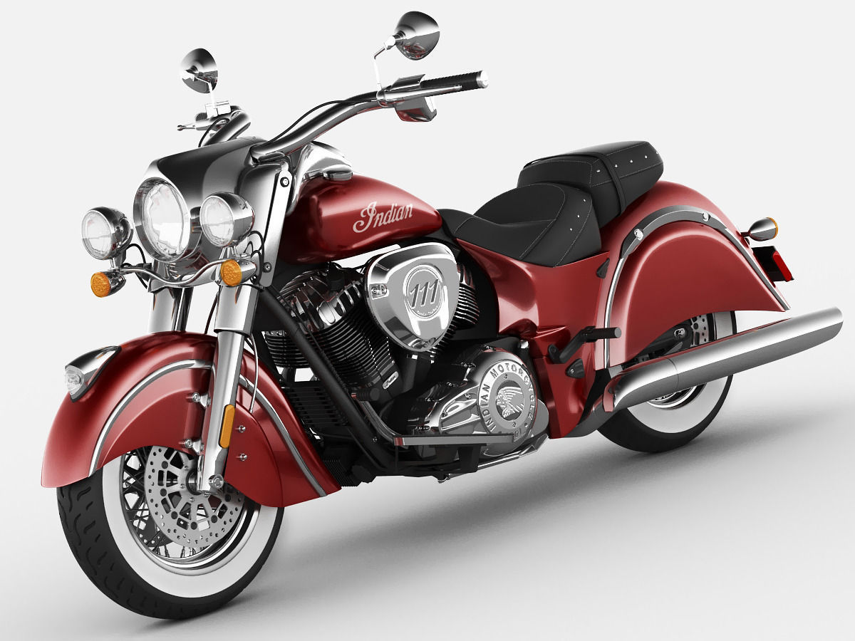 Indian Chief Motorcycle: Indian Chief Classic Motorcycle 3D Model MAX OBJ 3DS FBX