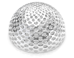 Perforated dome structure architecture and 3D model