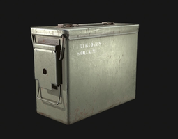 3D model low-poly Ammo Box