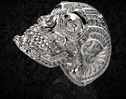 Skull Ring 3D