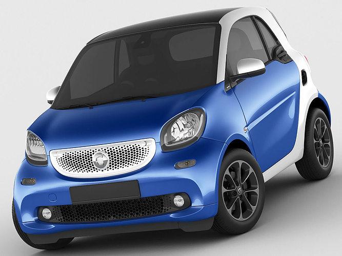 smart fortwo 2015 3d model max obj 3ds fbx c4d lwo lw lws 1
