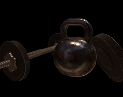 Gym Props Pack 3D asset
