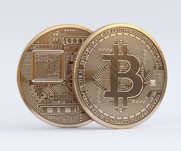 bitcoin 3d model max obj mtl 3ds fbx stl 1