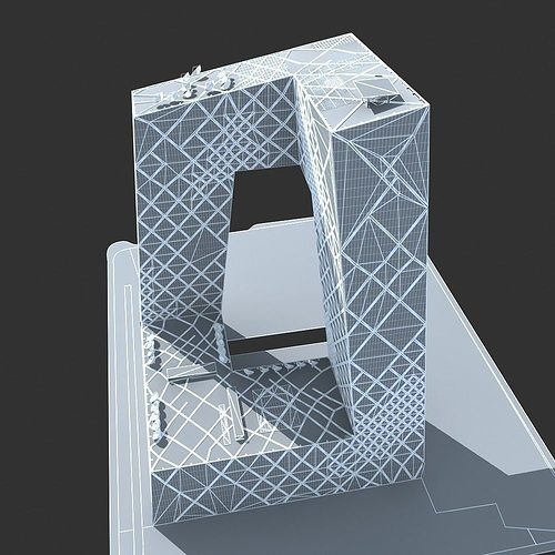 cctv main building 3d model cgtrader