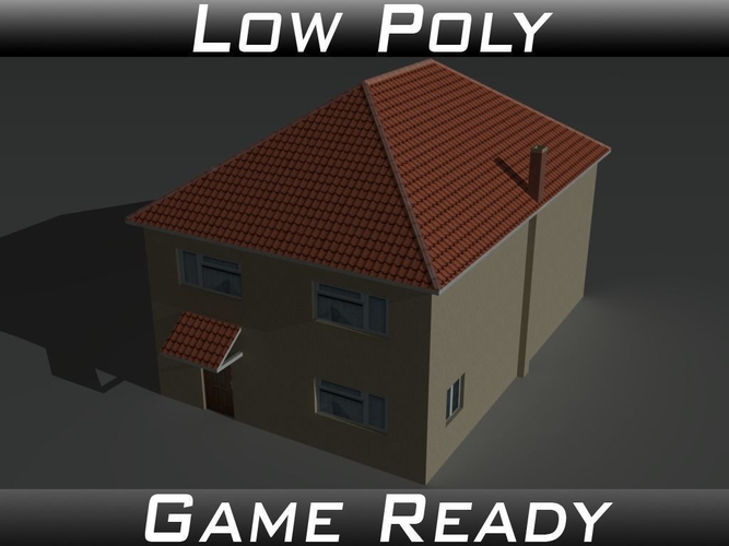 house 12 3d model low-poly obj mtl 3ds fbx 1