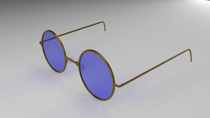 spectacles 3d model obj mtl fbx blend x3d ply 1