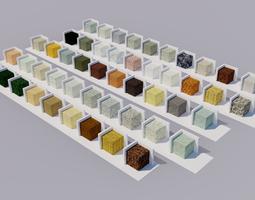 rock Stones Materials 3D