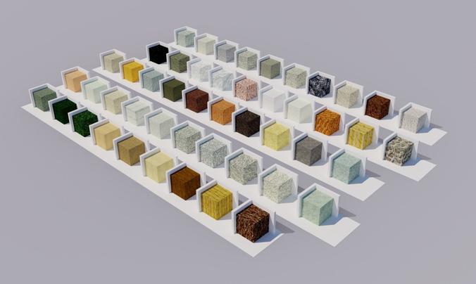 stones materials 3d model dae skp 1