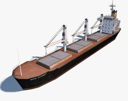 Bulk Carrier 3D asset