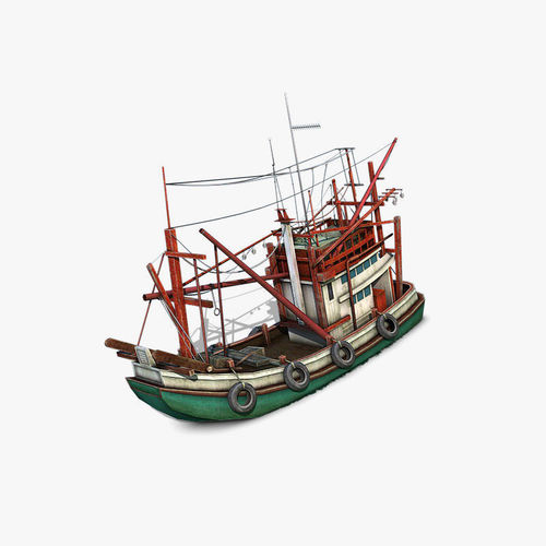 thai fishing boat 3d model max obj mtl 3ds fbx c4d dae 1