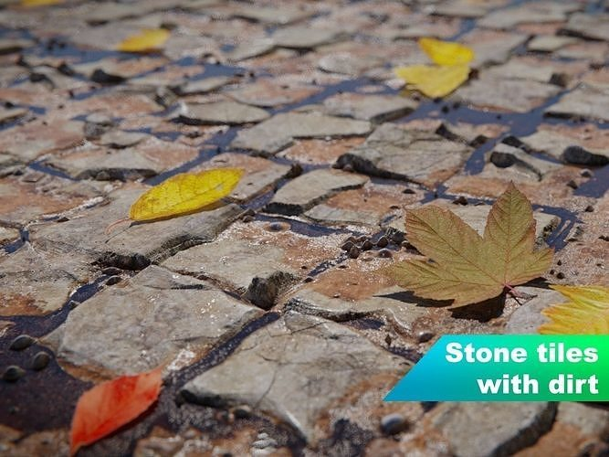 Seamless stone tiles with dirt