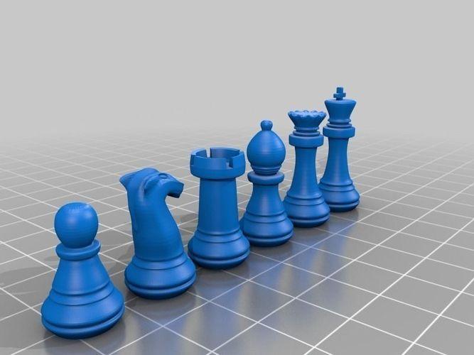 Chess Set As Stl Free 3d Model 3d Printable Stl
