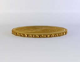 game-ready single coin 3d model