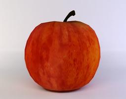 3d asset red apple VR / AR ready