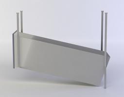 3d model VR / AR ready vent shaft