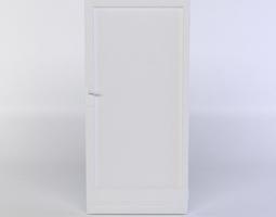 white door low-poly 3d asset