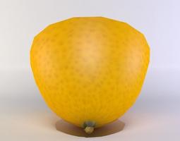 low-poly 3d asset lemon half