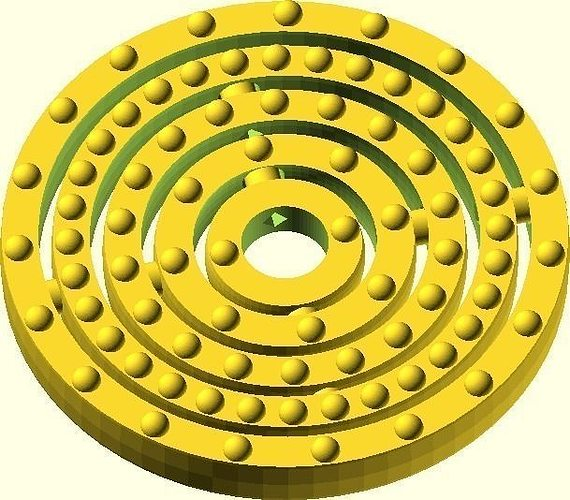 3d Printable Model Gold Atom Customized