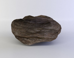 game-ready 3d model flat rock small