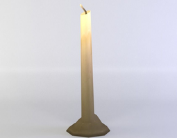 game-ready 3d asset candle