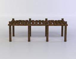 3d model wooden pier realtime