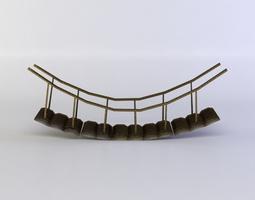 hanging bridge realtime 3d model
