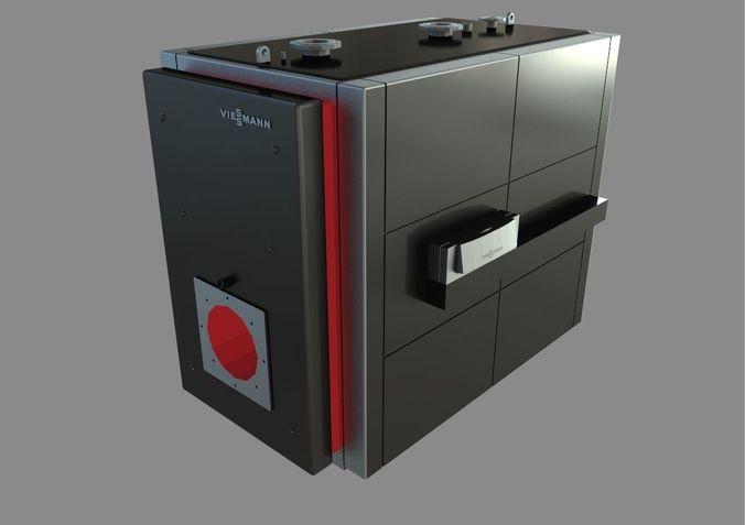 low-temperature boiler vitoplex 100 3d model max obj 3ds fbx dxf dwg 1