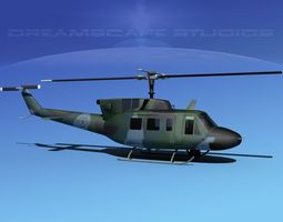 Bell UH-1N US Airforce Special Ops 3D Model