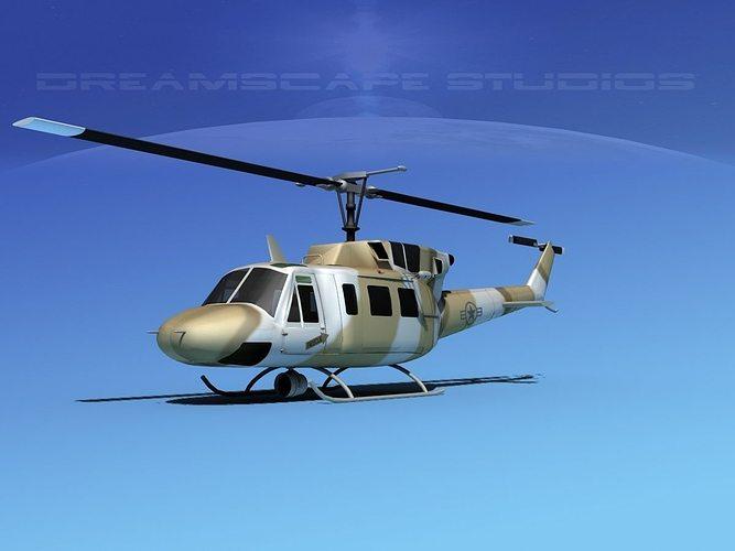 bell uh-1n army desert 3d model max obj mtl 3ds lwo lw lws dxf stl 1
