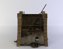 building ruins low-poly 3d model