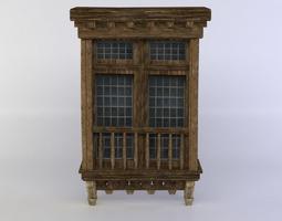 game-ready window 3d model