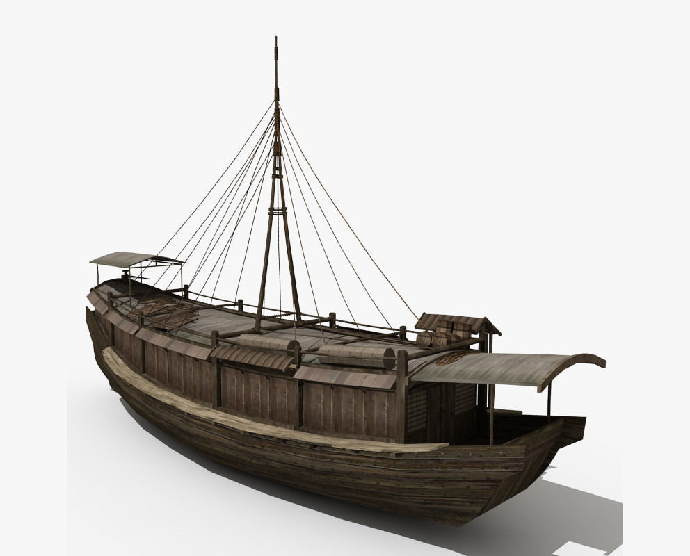 3d Model Chinese Old Ship 04 Cgtrader