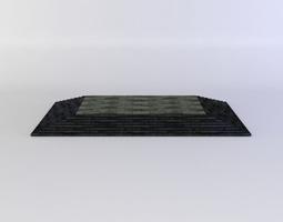 low-poly 3d model floor platform up