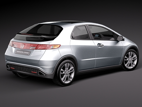Honda civic 2010 europe japan 3d model 3d model max 3ds for Different honda civic models